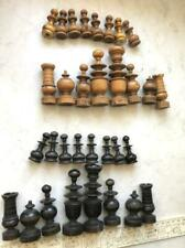 19th Huge Antique Imperial Russian Wooden Wood Chess Full Set Board Game