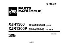 YAMAHA XJR1300 XJR1300P PARTS MANUAL (2001) 5EAT 5EAW 5EAV 5EAY REPRINTED