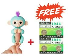 WOWWEE FINGERLINGS INTERACTIVE GREEN MONKEY 100% AUTHENTIC + BONUS MAXELL LR44