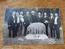 Early 1900s Group of Ministers Men at Redrock Park Real Photo Postcard Unposted