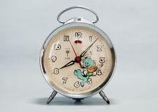 alter  KINDER WECKER   Disney motiv   mit bewegliche Figur   Disney alarm clock