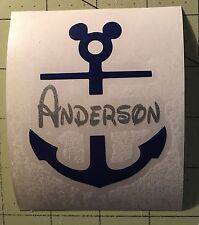 Mickey Mouse Anchor Decal For Your Yeti Rambler Tumbler