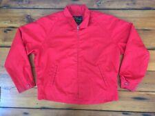 "Vtg Cal Craft Rockabilly Harrington Lightweight Red Zip Up Jacket Coat Mens 50"""