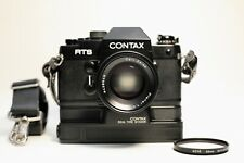 Contax RTS 35mm SLR Film Camera w Carl Zeiss T* 50mm f/1.4, Real Time Winder-EXC