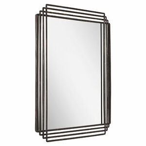 "Signature Hardware Sethfield 29"" x 40"" Iron Framed Bathroom Mirror - 442688"