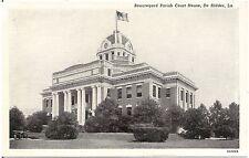Beauregard Parish Court House in De Ridder LA Postcard
