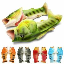 Creative Unisex Fish Shower Slippers Funny Beach Shoes Sandals Flip Flops CH