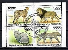 Animaux Félins Burundi (147) série complète 4 timbres oblitérés