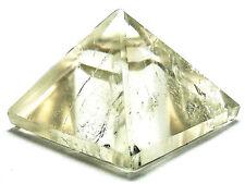 PYRAMID - SMOKY QUARTZ 25-30mm Crystal w/Description &Pouch- Healing Reiki Stone