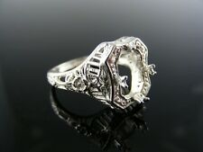 5577  RING SETTING STERLING SILVER, SIZE 6.75, 8X6 MM RECTANGLE STONE