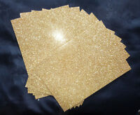 10 x Glitter Card - A6/C6 250gsm High Quality Card -Sparkling GOLD /DEFECTS