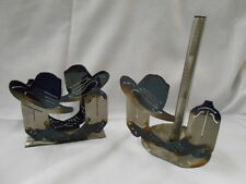 Boots 'n Hat Heavy Metal Paper Towel Holder and Matching Napkin Holder -Set pf 2