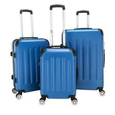 New 3 x Travel Spinner Luggage Set Bag ABS Trolley Carry On Suitcase w/TSA Blue
