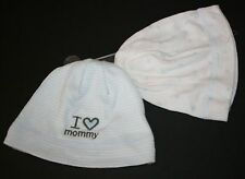 New Carter's 2 Pack Stars & Stripes Beanie Hat NWT 0-3 Months I Love Mommy Boys