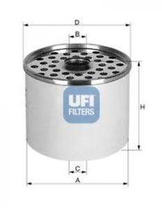 Kraftstofffilter UFI 24.360.00 für ALFA ROMEO AUDI CITROËN DAF FIAT FORD IVECO