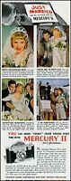 1947 Universal camera Mercury II just married vintage photo print Ad adL60