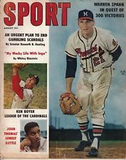 Sport Magazine - Aug 1961 Warren Spahn Cover - Quest for 300 Wins