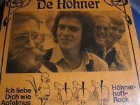 """7"""" COVER - De HÖHNER - Ich liebe Dich wie Apfelmus auf NEW BLOOD - Label"""