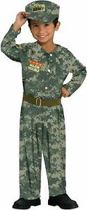 Soldier Green Camo Military Army Fancy Dress Halloween Toddler Child Costume