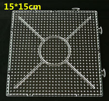 NEW Large Pegboards for Perler Bead Hama Fuse Beads Clear Square Design Board 15