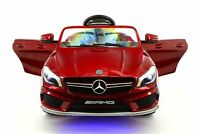 Mercedes CLA45 12V Kids Ride-On Car with R/C Parental Remote   Cherry Red