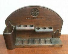 More details for vintage mbe 'kashmir 1946' hand made wooden tobacco pipe stand holder rack