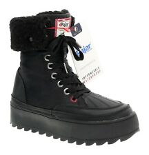 NEW PAJAR Snow Boots 7-7.5 Womens Lined Rubber LEATHER Winter Snowmobile Ice
