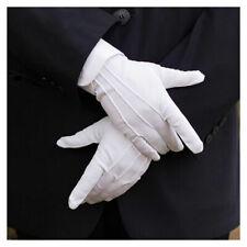 New Men Cotton White Tuxedo Gloves Formal Uniform Guard Suit Wedding Elegant Man