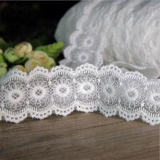 1 Yard Lace Trim Cotton Mesh Embroidered Wedding Ribbon Applique Sewing Crafts