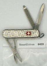 Victorinox Basketweave Sterling Silver swiss army knife. New, retired #6459