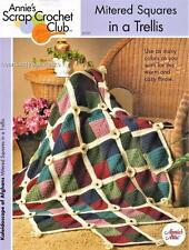 Mitered Squares in a Trellis  Annie's  Scrap Afghan Crochet Pattern Instructions