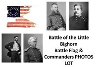 Custer's Last Stand PHOTOS Lot Battle Flag & Commanders,Battle of Little Bighorn