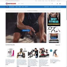Turnkey Dropshipping Body Building, Supplement and Equipment Website Store Free