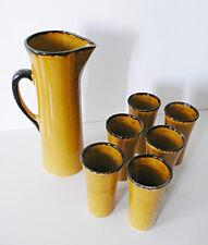 Ancien Service orangeade pichet ceramique Provence vintage design 1970 années 70
