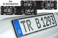 2x Stück TOP Elegante Rahmenlose Kennzeichenhalter Für Kennzeichen 520 x 110 mm
