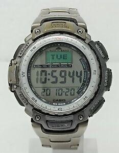 Orologio Casio pro trek prg-40 titanium triple sensor watch vintage clock oversi