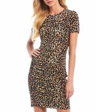 MICHAEL Michael Kors Mixed Cheetah Ruch Dress XS