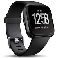 Fitbit Versa Armband Ersatz Silikon Band Uhrenarmband Fitness Tracker SCHWARZ