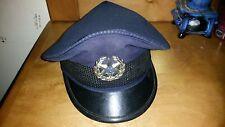 vintage used official retired  israel police policeman hat cap