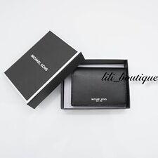 14c109b52f25 NWT New Michael Kors Men s Warren Business Card Holder Wallet Leather Black   78