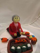 lady gardener gardening figure edible birthday cake topper 1st class post