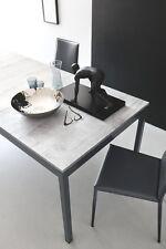 Calligaris Tisch SNAP CB 4085 ML 110 cm betongrau Gestell grau matt ausziehbar