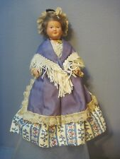 8 Inch Plastic Doll Victorian Dress