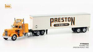 IXO 1/43 TTR003 PETERBILT 350 Preston People 1952 USA Truck+Trailer