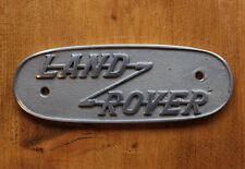 LAND Rover Serie 1 BADGE Cast di Alluminio segno distintivo vecchio stile VINTAGE-AUTO - 19