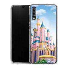 Samsung Galaxy A70 Silikon Hülle Case Handyhülle - Disney Castle