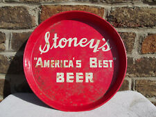 "Vintage Stoney'S Beer ""America's Best Beer"" Bar Tray Jones Brewing Smithton, Pa"