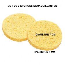 LOT DE 2 EPONGES MAQUILLAGE OU DEMAQUILLAGE NETTOYAGE VISAGE EPO802