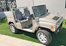 Silver 2015 acg hummer Golf Cart 4 passenger seat custom appx 100 miles from new