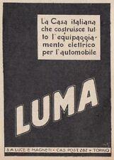 Z3654 Luci e Magneti LUMA - Pubblicità d'epoca - 1928 vintage advertising